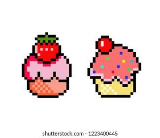 Cupcake Pixel Art Images Stock Photos Vectors Shutterstock
