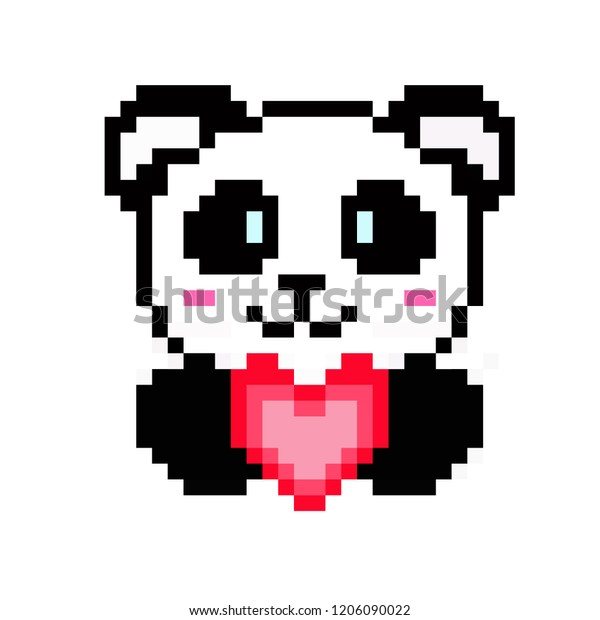 Image Vectorielle De Stock De Illustration Pixel Art Panda