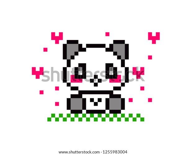 Image Vectorielle De Stock De Illustration Pixel Art Panda