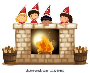 Miraculous Fireplace Clipart Images Stock Photos Vectors Shutterstock Home Interior And Landscaping Dextoversignezvosmurscom