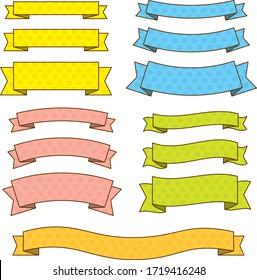 Illustration of polka dot ribbon