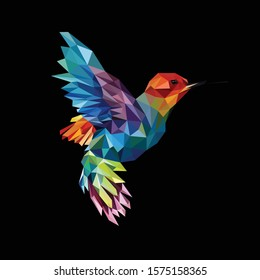 Illustration polygonal bird. Creative logo. Creative design.