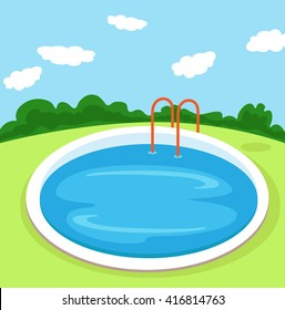 Illustration of a Pool.Vector Illustration.