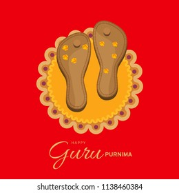 Illustration or poster for the Day of honoring celebrating guru purnima.
