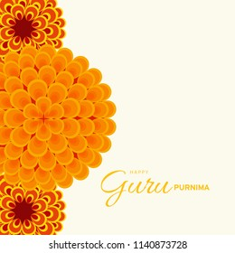 Illustration or poster for the Day of honoring celebrating guru purnima.