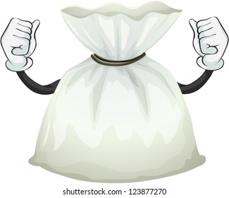 Illustration of a pouch bag on a white background