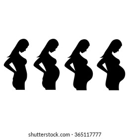 illustration of a pregnant woman, pregnant belly, pregnant lady