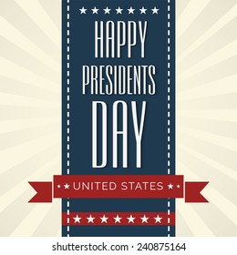 Illustration of  Presidents Day background.