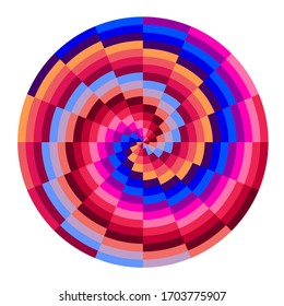 illustration of printing color spiral with different colors in gradations.