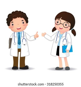 Illustration of profession's costume of doctor for kids