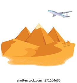 illustration. pyramid egypt.