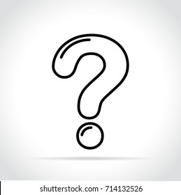 Illustration of question mark icon on white background