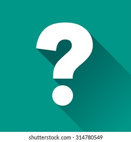 illustration of questions flat design icon isolated