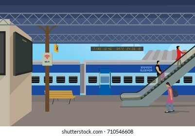 Illustration of Railway station