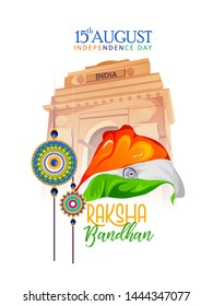 illustration of Raksha Bandhan with 15 august ,Indian Independence Day with new concept