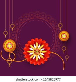 Illustration Of Raksha Bandhan Greeting Card Design.