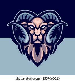 illustration of ram head for sports and gaming logos