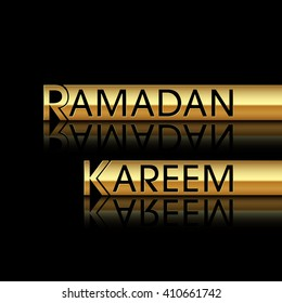 Illustration of Ramadan Kareem with intricate calligraphy for the celebration of Muslim community festival.