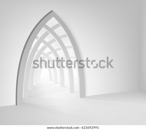 Illustration Ramadan Kareem. Islamic interior mosque with beam of light. Graphic concept for your design.