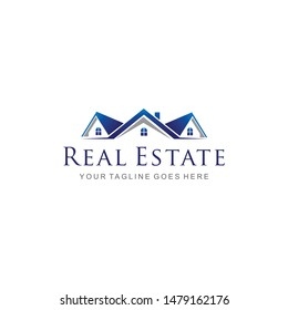 Illustration of Real estate company luxury and modern sign