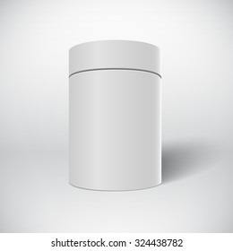 Illustration of Realistic Vector White Tin Can Template Isolated on White Background