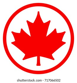 Illustration of red leaf icon concept