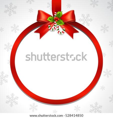 Illustration Red Ribbon Bow Vector Christmas Stock Vector Royalty