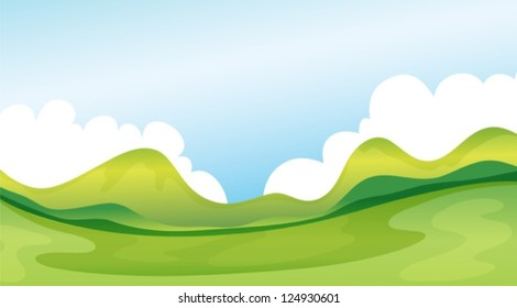 Illustration of a relaxing view