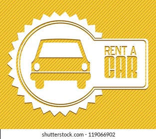 Illustration of rent a car, car icons, vector illustration