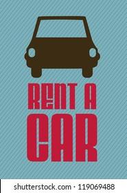Illustration of rent a car, car icons, vector illustration