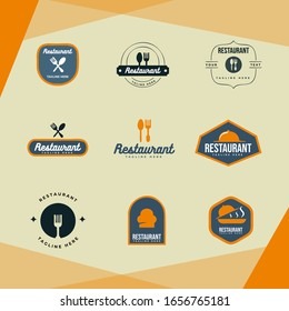 illustration for the restaurant logo can be applied to cafes, canteens, markets.