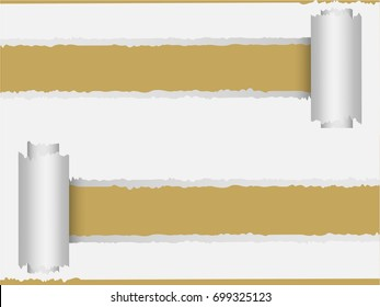 illustration ripped paper background with place for text