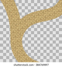 illustration of road made of gold