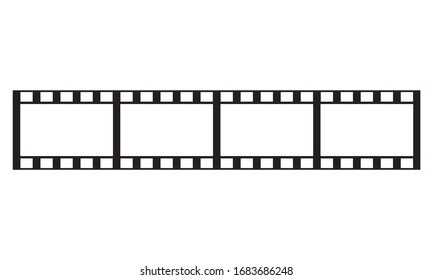 illustration of roll camera in black and white for background or template. color can be edited.eps10
