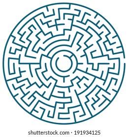 Illustration of the round maze