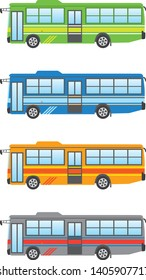 An illustration of the route bus. Color variations