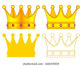 Illustration of the royal crown set