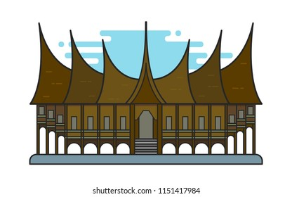 gadang images stock photos vectors shutterstock https www shutterstock com image vector illustration rumah gadang traditional house west 1151417984