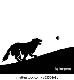 Illustration of running dog