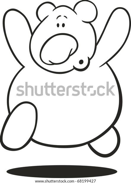 - Illustration Running Teddy Bear Coloring Book Stock Vector (Royalty Free)  68199427