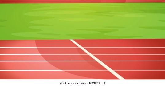 Illustration of a running track