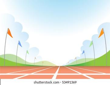 Illustration of running track