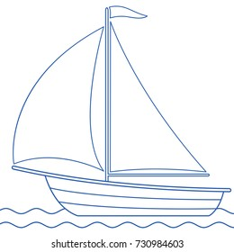 Illustration of the sailing boat icon