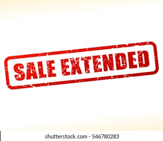 Illustration of sale extended text