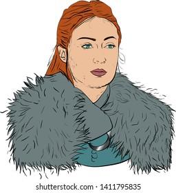 Illustration of Sansa Stark from Game of Thrones