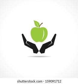 Illustration of save nutrition concept
