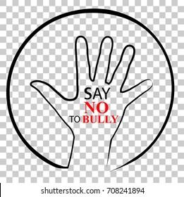 Illustration, Say No to Bully, at Transparent Effect Background