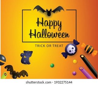 illustration of scary halloween background
