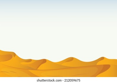 Illustration of a scene of a desert