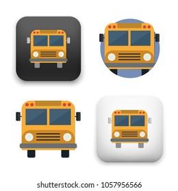 illustration of School Bus icon